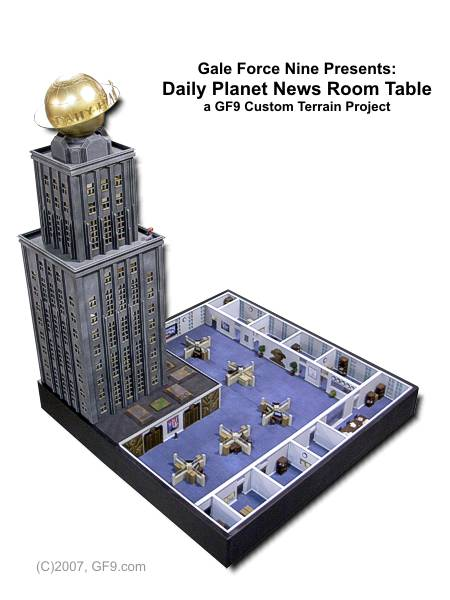 Daily Planet News Room Table
