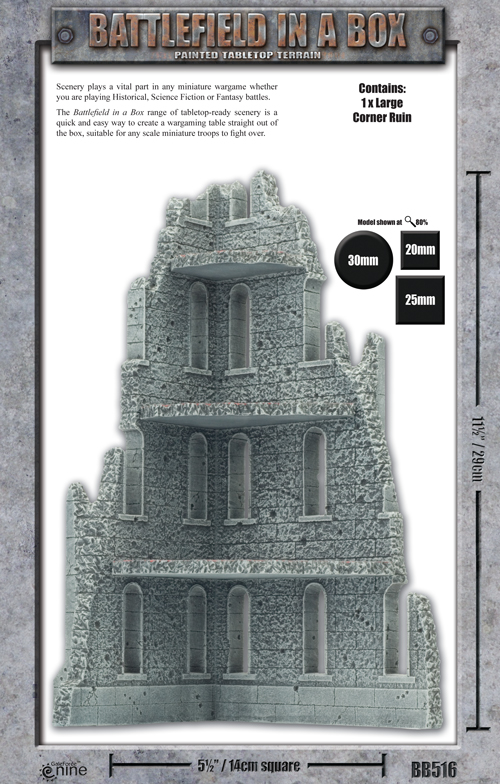 Battlefield in a Box: Large Corner Ruin (BB516)