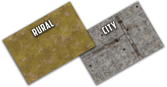 Double Sided City & Rural Gaming Mat (BB956)